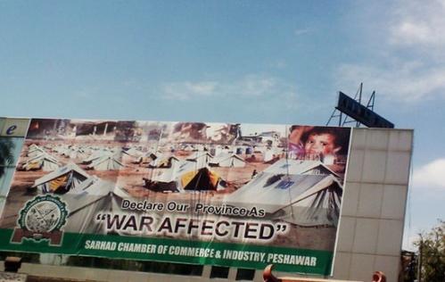 Billboard in Peshawar, Image credit: http://www.twitter.com/bilish