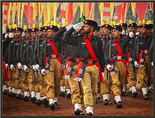 Image Credit: Ishtiaq Ahmed via Flickr, a police parade in Lahore